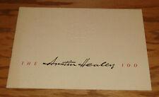Original 1955 Austin Healey 100 Deluxe Sales Brochure 55