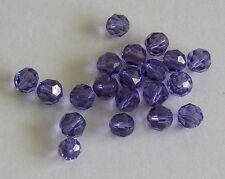 12 - Swarovski 8mm Crystal Tanzanite  Faceted Round Beads #5000