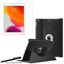 Housse Etui Rotatif Noir pour Apple iPad 10.2 2020 + Vitre de protection