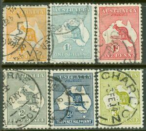 EDW1949SELL : AUSTRALIA Scott #2-6, 10 Very Fine, Used. Catalog