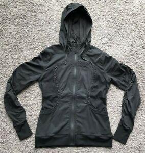 Lululemon Black Dance Studio Black Hooded Reversible Jacket Women's Size 12?