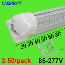 2-50/pack V shaped LED Tube Lights T8 Integrated Bulb Super Bright Bar Cool Lamp