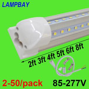 2-50/pack V shaped LED Tube Lights T8 Integrated Bulb Super Bright Bar Cool Lamp