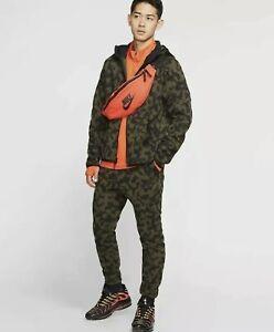 Nike Tech Fleece Tracksuit Full Set - Size Small - Camo - Hoodie/Joggers