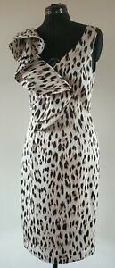 NEW COLLECTION Multi-Coloured Animal Print Formal Dress - Size 10