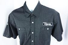Medium Thor MX Black Button Front Shirt Mens M
