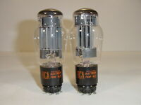2 Vintage NOS 1964 RCA Tung-Sol JAN 6AS7 6080 5998 Matched Amplifier Tube Pair