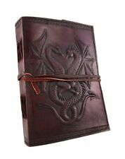 Sketch Book 240 Papers Sheets Drawing Notebook Leather Dragon Leaf Journal 5x7