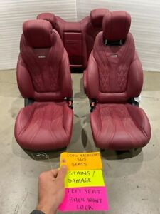 15 16 17 MERCEDES BENZ S65 AMG C217 A217 OEM RED LEATHER SEATS FRONT REAR