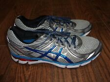 Mens Asics Gel GT-2000 2 Blue/White/Silver Running Shoes Sz. 16