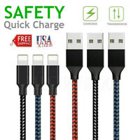USB Fast Charger Data Charging Cable Lead for iPhone 11 Pro X XS Max XR 8 7 plus