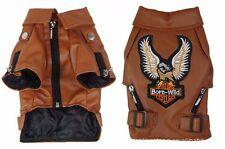 Dog PU Leather Motorcycle Jacket   Size XS   Coat Jumper   Pet Clothing