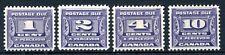 Weeda Canada J11-J14 VF MLH 1933-34 Postage Due issue CV $115
