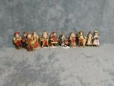 Lot Of 11 International Santas Christmas Collectable Figurines With Dates Used