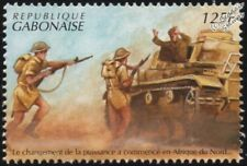 WWII North Africa Campaign: German Tank Crew Surrenders to Allied Troops Stamp