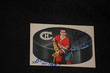 LOU FONTINATO 1962-63 PARKHURST SIGNED AUTOGRAPHED CARD #52 CANADIENS