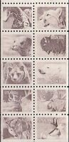United States Scott 1880-1889, American Wildlife Booklet Pane of 10. MNH