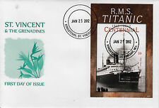 Mustique Grenadines St Vincent 2012 FDC RMS Titanic Centennial 1v S/S Cover