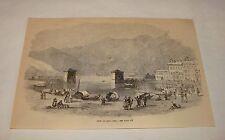 1879 magazine engraving ~ VIEW ON LAKE COMO, Italy