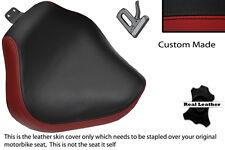 DARK RED & BLACK CUSTOM FITS YAMAHA XVS 1100 DRAGSTAR CUSTOM FRONT SEAT COVER