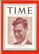 Magazine TIME   King George VI  MAY 15  1939