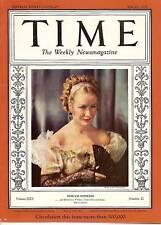 Time Magazine 1935, May 27,              Miriam Hopkins