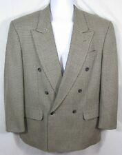 PIERRE BALMAIN Size 40 S Silk Wool Vintage Double Breasted Brown Black Blazer