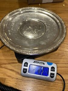 "Prelude international Sterling  Silver 10 1/4""  11oz  Round Dish Platter"