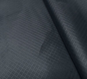 Navy Blue Waterproof Rip Stop Ripstop Fabric Nylon Look Material Cover 150cm