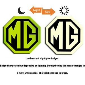 MG ZR MK2 LE500 Style Badge Inserts Front Rear 59mm 95mm Night Glow Green Badges