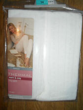 MARKS AND SPENCER THERMAL LONG PANTS IVORY SIZE 14 LADIES RRP £12.50