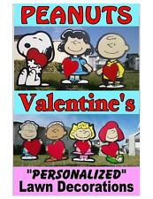 Peanuts Charlie Brown Valentine's Day COMBO Yard and Garden Decorations