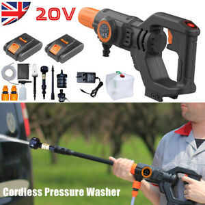 Cordless Electric Power Pressure Washer Jet Car Wash Patio Portable w/ 2 Battery