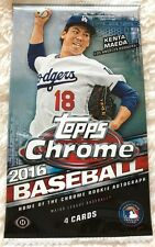 2016 Topps Chrome HOBBY Pack (Harper Trout Bryant Seager Turner Auto)? 1Day Ship