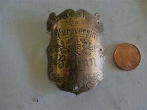 Fahnenstangenabzeichen   Turnverein  Brunn  im vogtland  1903