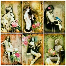 RISQUE ALTERED ART Card Making Toppers, Card Toppers (12)