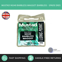MUSTAD 90340 LONG POINT BARBLESS MAGGOT HOOK - Match Course Carp Fishing Hooks