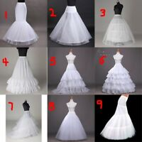 White Wedding Dress Petticoat Ball Gown Criniline Mermaid Slip underskirt