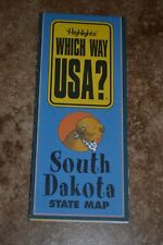 "Highlights Which Way Usa? South Dakota State Map ""Vgc