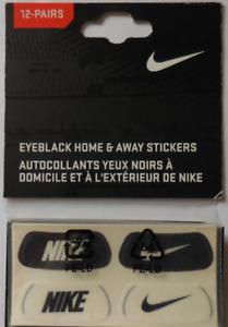 NIKE EyeBlack Home & Away Stickers Set Of 12 Pairs-Black/White-White/black New