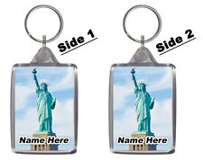 Statue Of Liberty, New York, USA - Personalised Keyring / Bag Tag - Gift