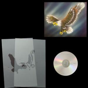 Schablonen Airbrush Step by Step angreifender Adler # 0182 & Anleitungs CD