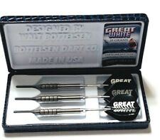 BOTTELSEN STEEL TIP DARTS MODEL  GREAT WHITE 2592GW7 25 GRAM NEW FREE SHIPPING