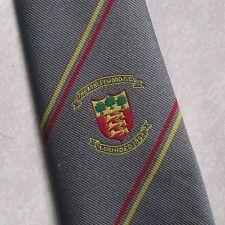 Ashley Wood Golf Club Corbata Escudo Retro Vintage gris motivo Crest 1990s Golf