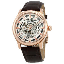 Invicta Objet D Art Automatic Silver Skeleton Dial Mens Watch 22612