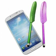 Fashion Universal For Phone Feather Shape Capacity Screen Stylus Pen