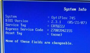Dell optiplex 745 2.13GHz 4GB RAM
