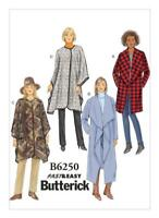 Butterick Sewing Pattern 6250 Misses Shawl Collar Jacket Coat Snap Wrap 16-26 UC