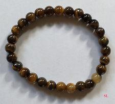 Bracelet en pierre oeil de tigre,  perles 6mm LITHO-REIKI