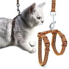 Pet Kitten Harness Belt Adjustable Nylon Pet Cat Dog Collar Harnes Traction